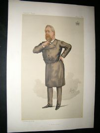 Vanity Fair Print: 1885 Earl of Limerick, Irish Freemason